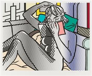 nude series - nude reading by roy lichtenstein