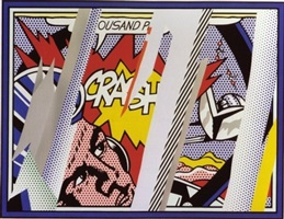 reflections on crash, from: reflections (c. 239) by roy lichtenstein