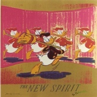 ads portfolio: the new spirit (donald duck) by andy warhol