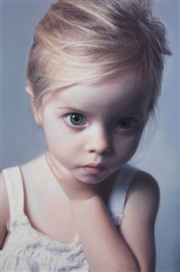 head of a child 17 by gottfried helnwein
