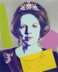 queen beatrix of the netherlands royal edition fs ii340 by andy warhol