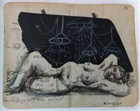 hair of charcole drawings by william kentridge