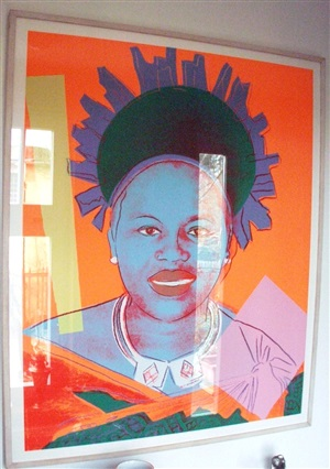 queen ntombi twala of swaziland trialproof (from 'reigning queens' portfolio) by andy warhol