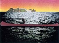 canoe-island by peter doig