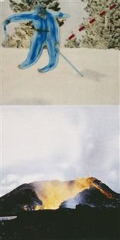 jump (with volcano) by john baldessari
