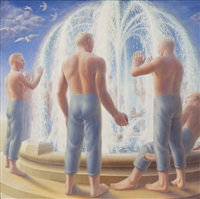 fountain by george tooker
