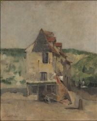 a farmhouse by john henry twachtman