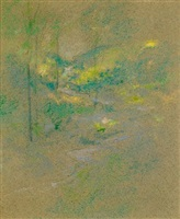 brook among the trees by john henry twachtman