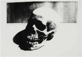 skull by andy warhol