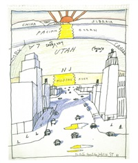 view of the world from 9th avenue by saul steinberg