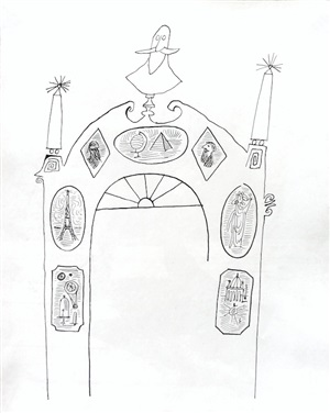 untitled (arch) by saul steinberg