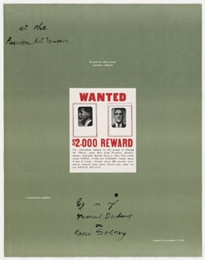 pasadena art museum poster by marcel duchamp
