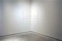 untitled (sculptural study, two-part cornered construction) by fred sandback