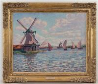 moulins en hollande pres de zaandem by armand guillaumin