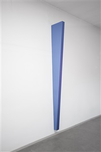 metalloid violet-blue vertical wedgeshaped object (iii) by gianni piacentino