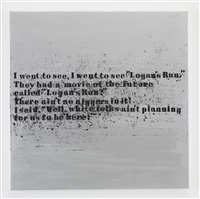 silver the future #4 by glenn ligon