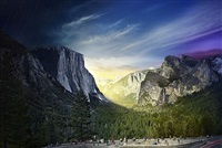 tunnel view, yosemite, day to night by stephen wilkes