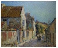 rue de village by gustave loiseau