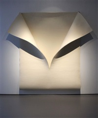 untitled (white felt) by robert morris