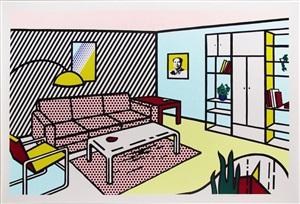 modern room by roy lichtenstein