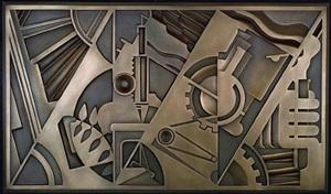 peace through chemistry bronze by roy lichtenstein