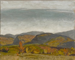 autumn hills- near dwight (barking dog hill) by alfred joseph casson
