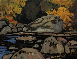 brook, algoma – algoma sketch cxxvii by lawren stewart harris