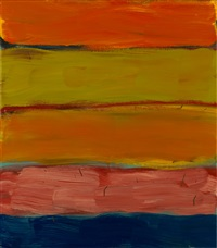 landline pink orange by sean scully