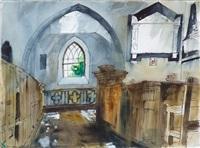 church interior, manordeifi by john piper