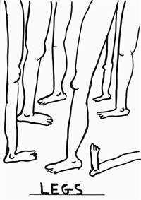 untitled (legs) by david shrigley