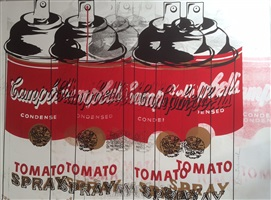 campbell's tomato spray by mr. brainwash
