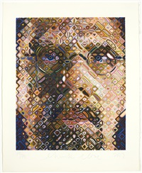 selbstportrait / self-portrait by chuck close