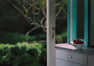 untitled, interior with bowl of cherries by bruce cohen