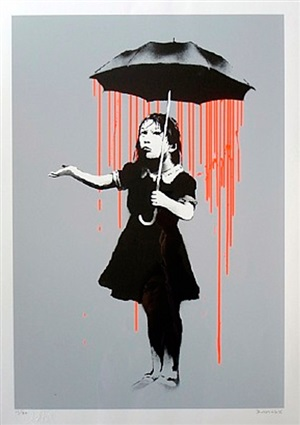 nola (artist's proof) orange by banksy