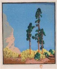 three pines by gustave baumann