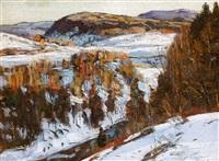 snow scene by george gardner symons