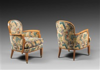 suite de six fauteuils by jules leleu