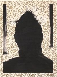 untitled (shadow head #8) by richard hambleton