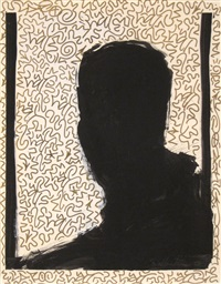 untitled (shadow head #9) by richard hambleton