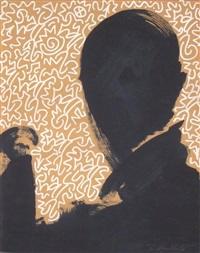 untitled (shadow head #10) by richard hambleton