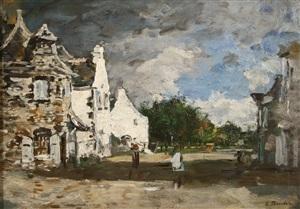 le faou coin de village by eugène boudin