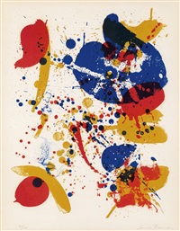 an 8 set - 6, from the pasadena box (ed. 49/100) by sam francis