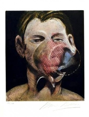 3 studies for a portait of peter beard i by francis bacon