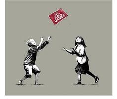 no ball games (grey) by banksy