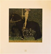 the golden knight by gustav klimt