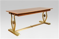 rare table console / rectangular console table by maison jansen