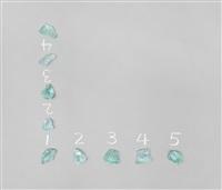 5 stones / 4 spaces (hinge), 1972/2012 by mel bochner