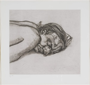 man resting (state ii) by lucian freud