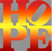 four seasons of hope book (silver), i by robert indiana