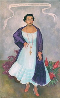 portrait of enriqueta g. de dávila by diego rivera
